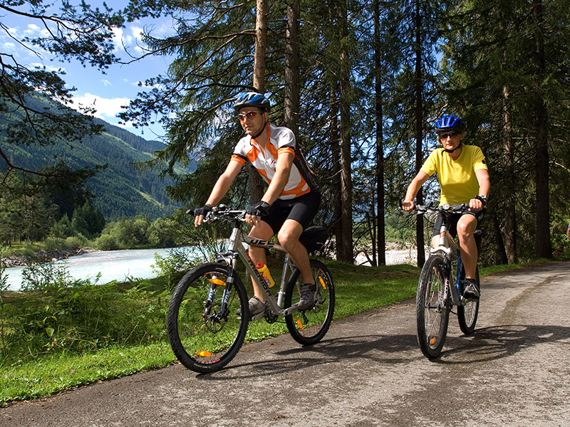 Sommer Radfahren Lechtal